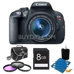 EOS Rebel T5i SLR Digital Camera EF-S 18-55mm STM 16GB Bundle