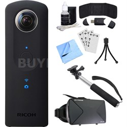Theta S 360-Degree Spherical Digital Camera w/ Reality Viewer Ultimate Bundle