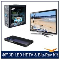 """UN46C7000 - 46"""" 3D 1080p 240Hz LED HDTV -- 3D Starter Kit + BluRay Player Bundle"""