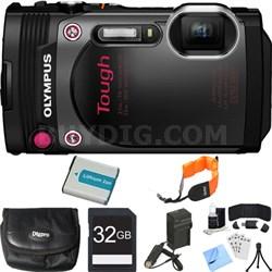 TG-870 Waterproof 16MP Black Digital Camera 32GB SDHC Memory Card Deluxe Bundle