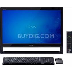 """VAIO 24"""" VPCL137FX/B All-in-One Desktop PC - Intel Core 2 Quad Processor Q8400S"""
