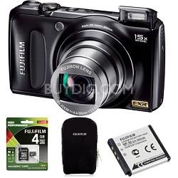 "FinePix F300EXR 12MP Digital Camera 15x WideAngle Zoom 3"" LCD HD Holiday Bundle"