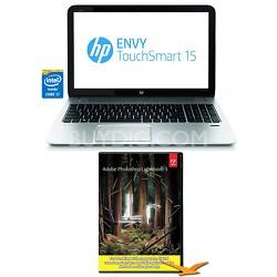 """Envy TouchSmart 15.6"""" 15-j150us Notebook - i7-4700MQ Photoshop Lightroom Bundle"""