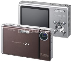FinePix Z5fd 6.3 MP, Super CCD and Real Photo Technology (Brown)