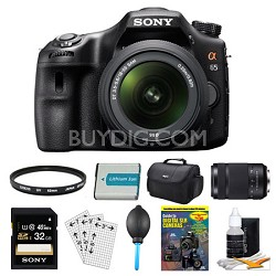 SLTA65VL DSLR 24.3MP 18-55mm Zoom SLR Black Camera 55-300mm 32GB Bundle