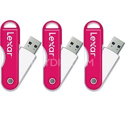 JumpDrive TwistTurn 16 GB High Speed USB Flash Drive (Pink) 3-Pack (48GB Total)
