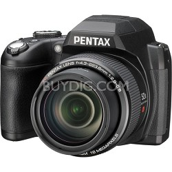 Pentax XG-1 16MP 3-inch LCD 52X Megazoom Digital Camera - Black