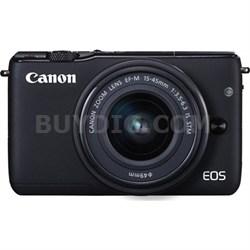 EOS M10 Mirrorless Camera Body EF-M 15-45mm f/3.5-6.3 IS STM Lens KIT - Black