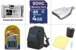 Platinum Accessory bundle for Optio E-Series Cameras