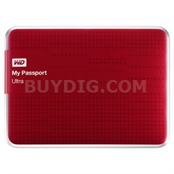 My Passport Ultra 2 TB USB 3.0 Portable Hard Drive -  (Red) - OPEN BOX
