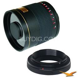 800mm F8.0 Mirror Lens for Olympus / Panasonic (Black Body) - 800M-B