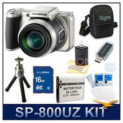 SP-800UZ 14 Megapixel 30x Zoom Digital Camera w/ 16 GB Memory Kit