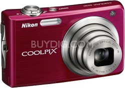COOLPIX S630 Digital Camera (Ruby Red)