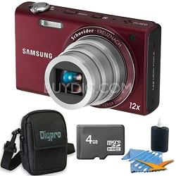 WB210 Burgundy Digital Camera 4 GB Bundle