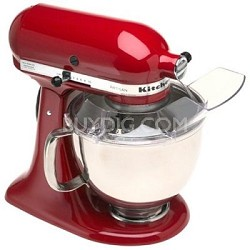 Artisan Series 5-Quart Tilt-Head Stand Mixer in Red - KSM150PSER