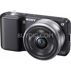Alpha NEX-3 Interchangeable Lens Black Digital Camera w/ 16mm Lens-OPEN BOX