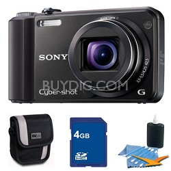 Cyber-shot DSC-H70 Black Digital Camera 4GB Bundle