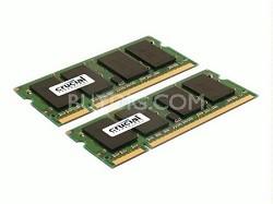 2GB kit (1GBx2), 200-pin SODIMM, DDR2 PC2-6400, NON-ECC,