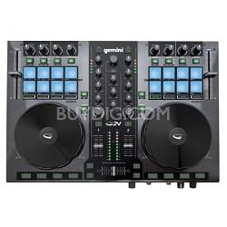 DJ G2V DJ Controller 2 Channel Midi Controller with Soundcard