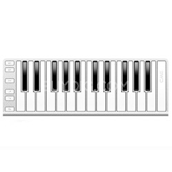 Xkey 25-Key MIDI Portable Mobile Musical Keyboard - Silver