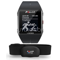 V800 GPS Sports Watch with Heart Rate Monitor, Black (90050554)