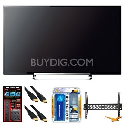 "KDL-50R550A 50"" 120Hz 3D WiFi 1080p LED HDTV Wall Mount Bundle"
