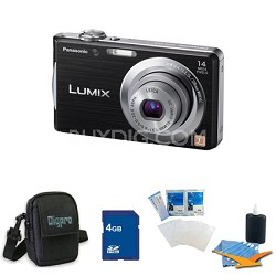 Lumix DMC-FH2 14MP Black Digital Camera w/ 720p 30 fps HD Video 4GB Bundle