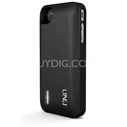 Exera Modular Detachable Battery Case for iPhone 4S 4 - Black/Black