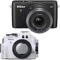 1 S2 Mirrorless Black Digital Camera w/ 11-27.5mm Lens Underwater Housing Bundle