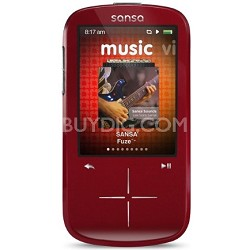 Sansa Fuze+ 4GB Red MP3 MP4 Video Music Player w/ FM radio