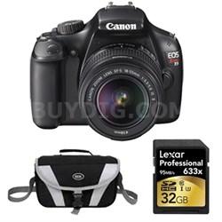 EOS Rebel T3 SLR Digital Camera w/ 18-55mm Lens 32 GB Memory Kit