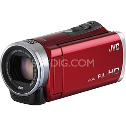 GZ-E300RUS- HD Everio Camcorder 40x Zoom f1.8 (Red)