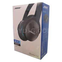 QuietComfort 25 Acoustic Noise Cancelling Headphones Black - OPEN BOX