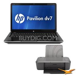 """Pavilion 17.3"""" dv7-7020us Entertainment Notebook PC Core i5-3210M Printer Bundle"""