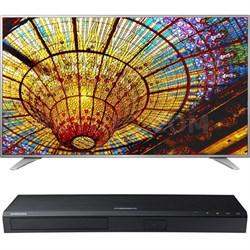 75-Inch 4K UHD Smart TV - 75UH6550 + Samsung UBDK8500 4K UHD Blu-Ray Player