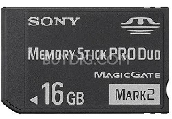 16GB  Memory Stick PRO Duo Media {MS-MT16G}