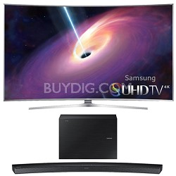 UN88JS9500 - 88-Inch Curved 4K 120hz SUHD 3D LED TV w/ HW-J6500 Soundbar Bundle