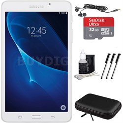 "Galaxy Tab A Lite 7.0"" 8GB Tablet PC (Wi-Fi) White, 32GB Card, and Case Bundle"