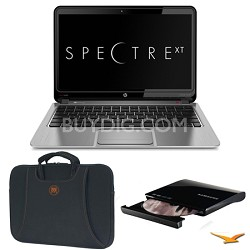 "ENVY 13.3"" 13-2050nr Spectre XT Ultrabook, Carrying Case, and DVD Writer Bundle"