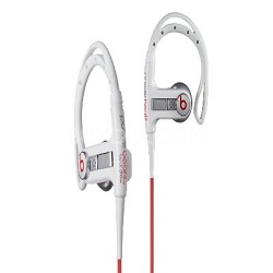 MHBTSIELJWHCT PowerBeats Sport Headphones w/ In-Ear Sport Hook white 129502