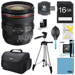 EF 24-70mm F/4L IS USM Standard Zoom Pro Lens Bundle