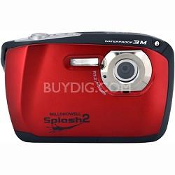 "Splash II 16MP Waterproof Digital Camera 2.5"" LCD HD Video (Red)(WP16-R)"