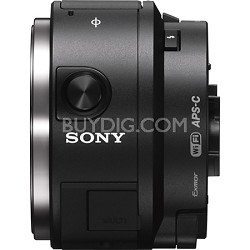 ILCE-QX1/B APS-C Sensor Interchangeable Lens Style Camera with Built-in Flash