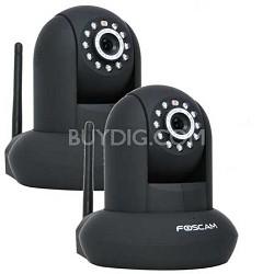 2 pack FI9821W v2 1.0 Megapixel (1280x720p) H.264 Wireless IP Camera - Black