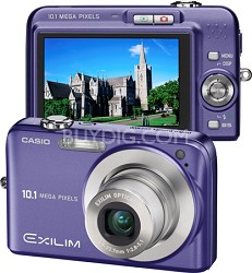 "Exilim EX-Z1050 10MP Digital Camera with 2.6"" LCD (Blue) - Refurbished"