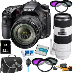 SLTA77VQ - a77 DSLR 24.3 MP with 16-50mm and 70-200mm f/2.8 Lens Bundle