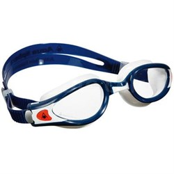 Kaiman EXO Small Swimming Goggles with Clear Lens and Blue/White Frame - 175810