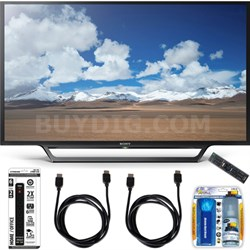 KDL-32W600D 32-Inch Class HD TV with Built-in Wi-Fi Accessory Bundle