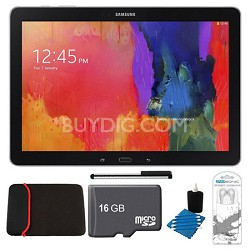 "Galaxy Note Pro 12.2"" Black 64GB Tablet, 16GB Card, Headphones, and Case Bundle"
