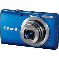 A4000 IS 16MP Blue Digital Camera 8x Optical Zoom 3 inch LCD